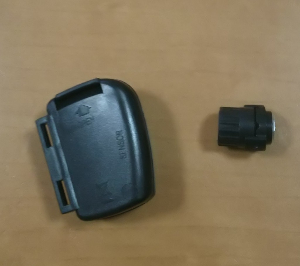 ワイヤレスタイプの自転車スピードセンサー