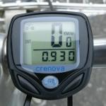 サイクルコンピューターで0.93km進んだ表示