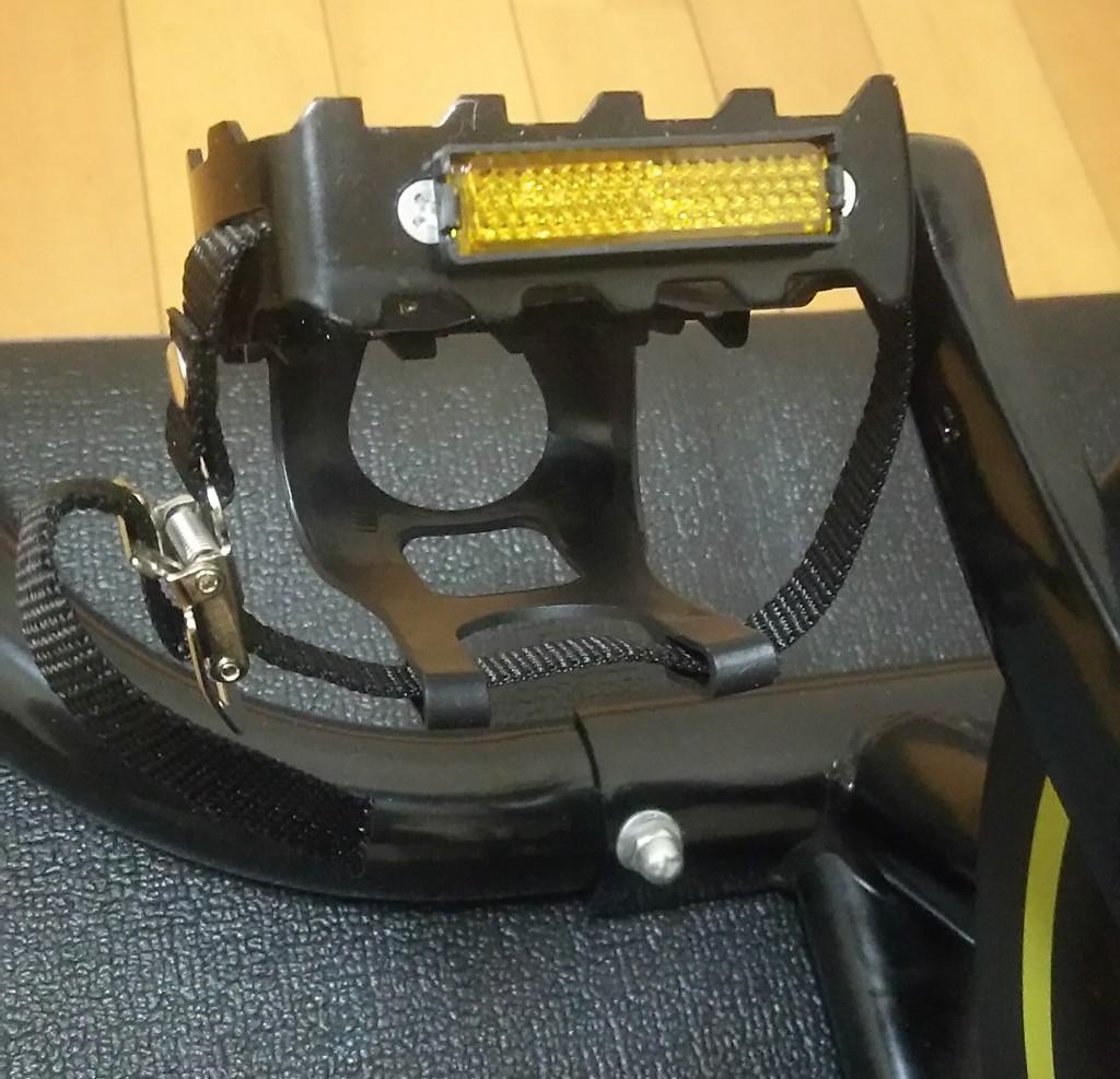スピンバイクに使われていた汎用の自転車べダル